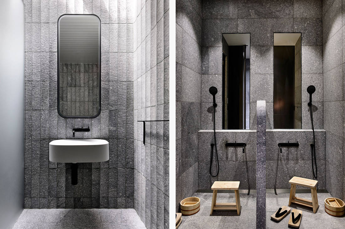 St Vincents Place bathroom by B.E. Architecture