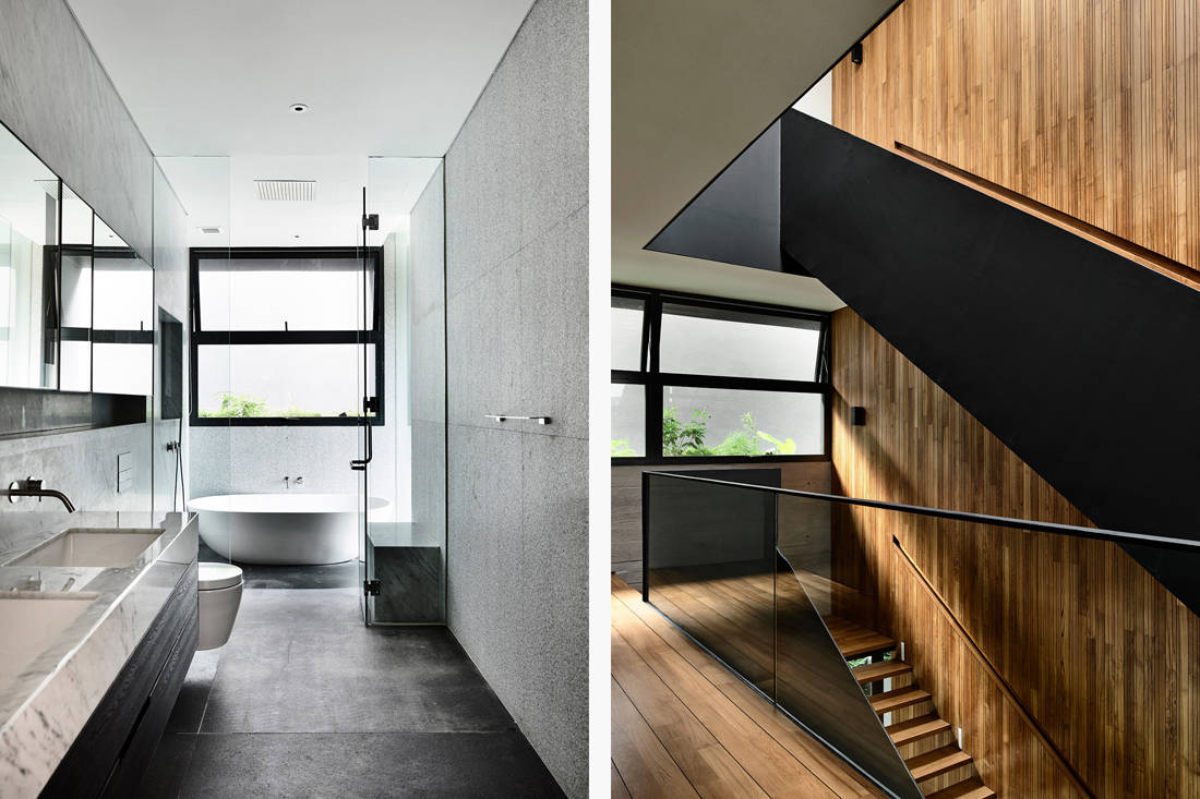 Ong & Ong Faber Hill Singapore nature bathroom and stairs