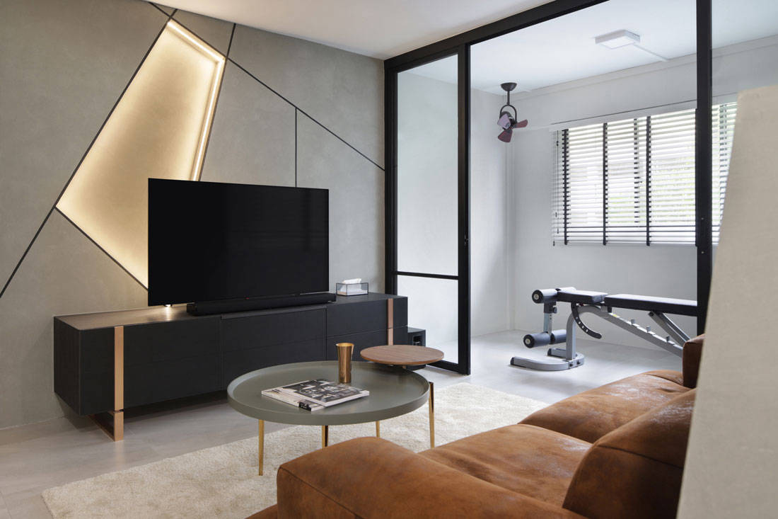 Creative space planning in a luxe looking yishun apartment