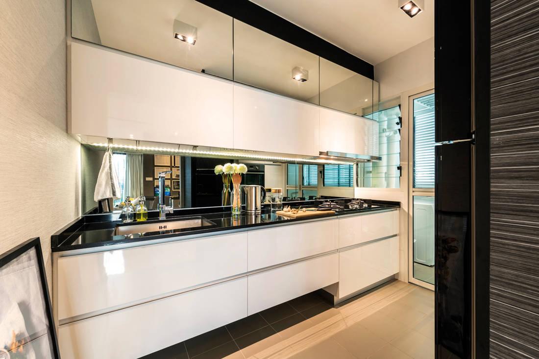 Intermod Space HDB flat looks like show flat kitchen