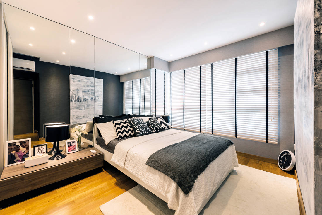 Intermod Space HDB flat looks like show flat master bedroom