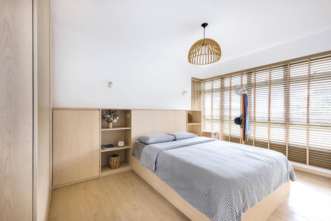 Kallang Trivista by D5 Studio Image - Japanese inspired HDB flat bedroom