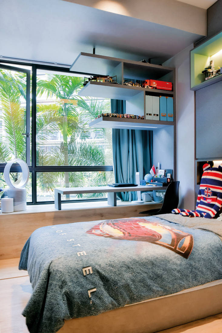 Unity ID D Nest condo masculine touches son's bedroom