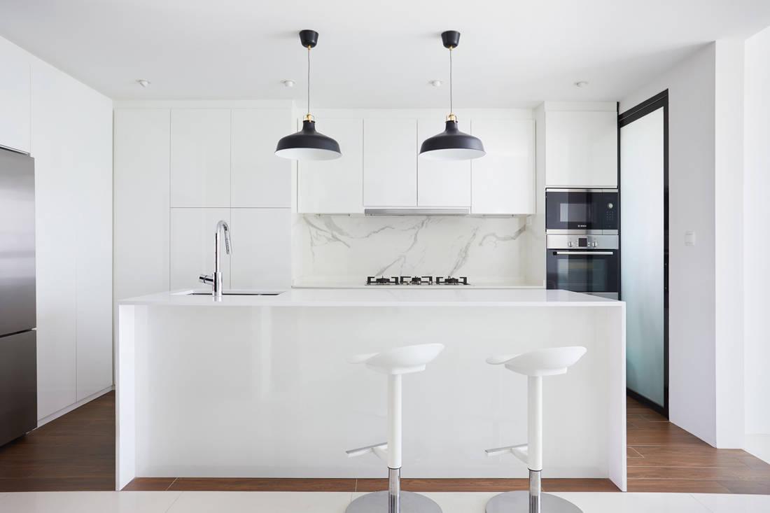 86 Jellicoe Rd open-plan condo kitchen by Design 4 Space