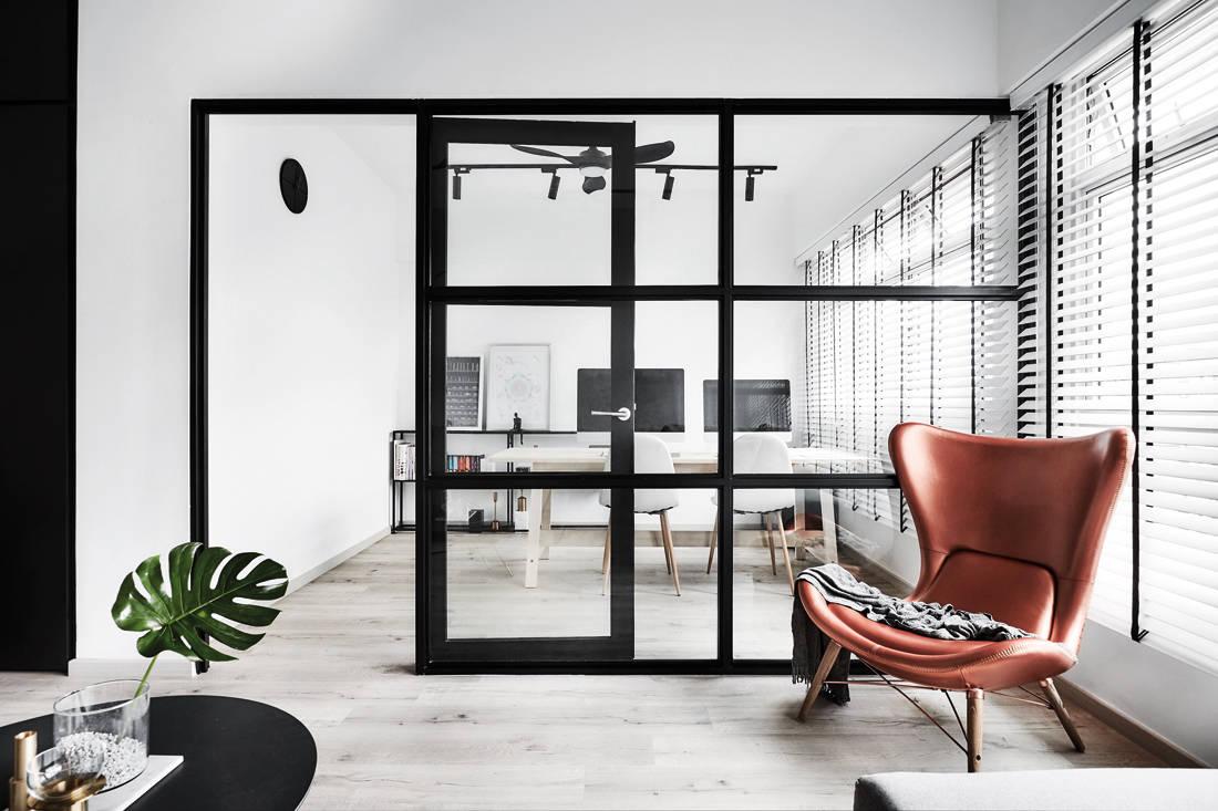 IN-EXPAT minimalist industrial HDB flat study