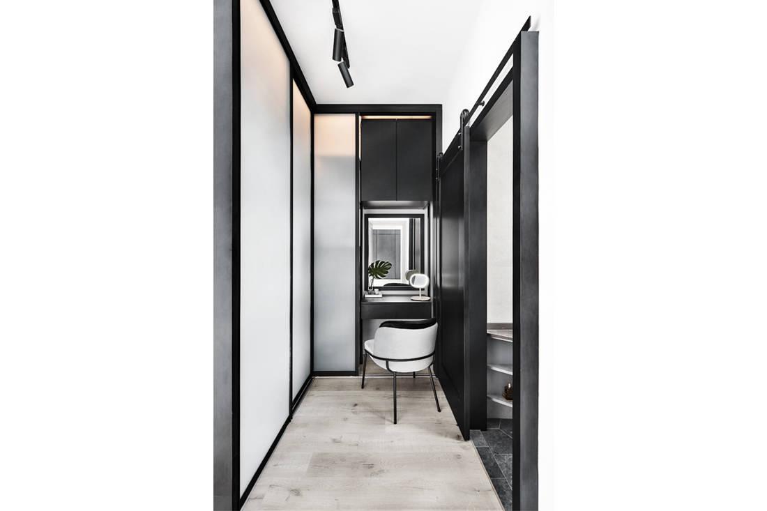 IN-EXPAT minimalist industrial HDB flat wardrobe