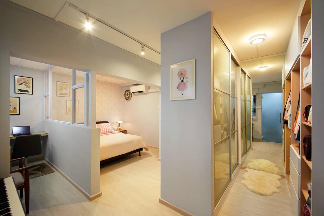 Scandinavian HDB resale flat bedroom by Design 4 Space