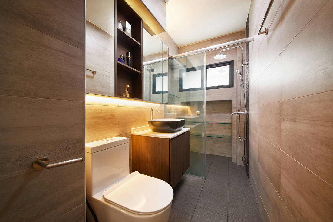 bachelor pad HDB resale flat unconvention designs in bathroom by Design 4 Space