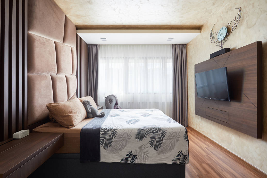 bachelor pad HDB resale flat unconvention designs in bedroom by Design 4 Space