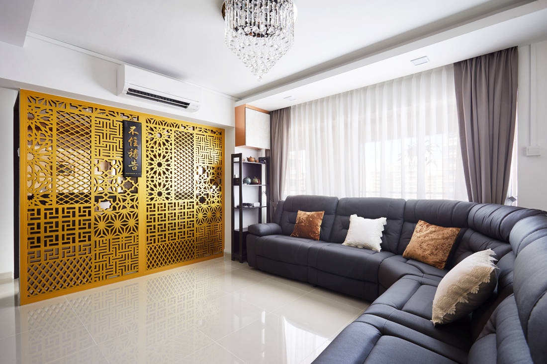 bachelor pad HDB resale flat unconvention designs in living area by Design 4 Space