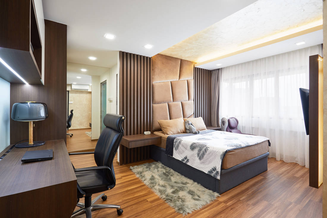 bachelor pad HDB resale flat unconventional designs in master bedroom by Design 4 Space