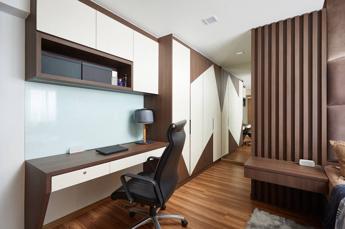 bachelor pad HDB resale flat unconvention designs in study and wardrobe by Design 4 Space