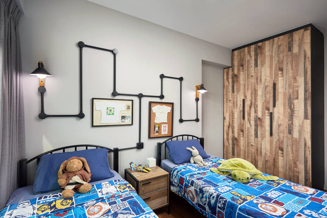cafe-inspired HDB flat kids bedroom by Dots N Tots Interior