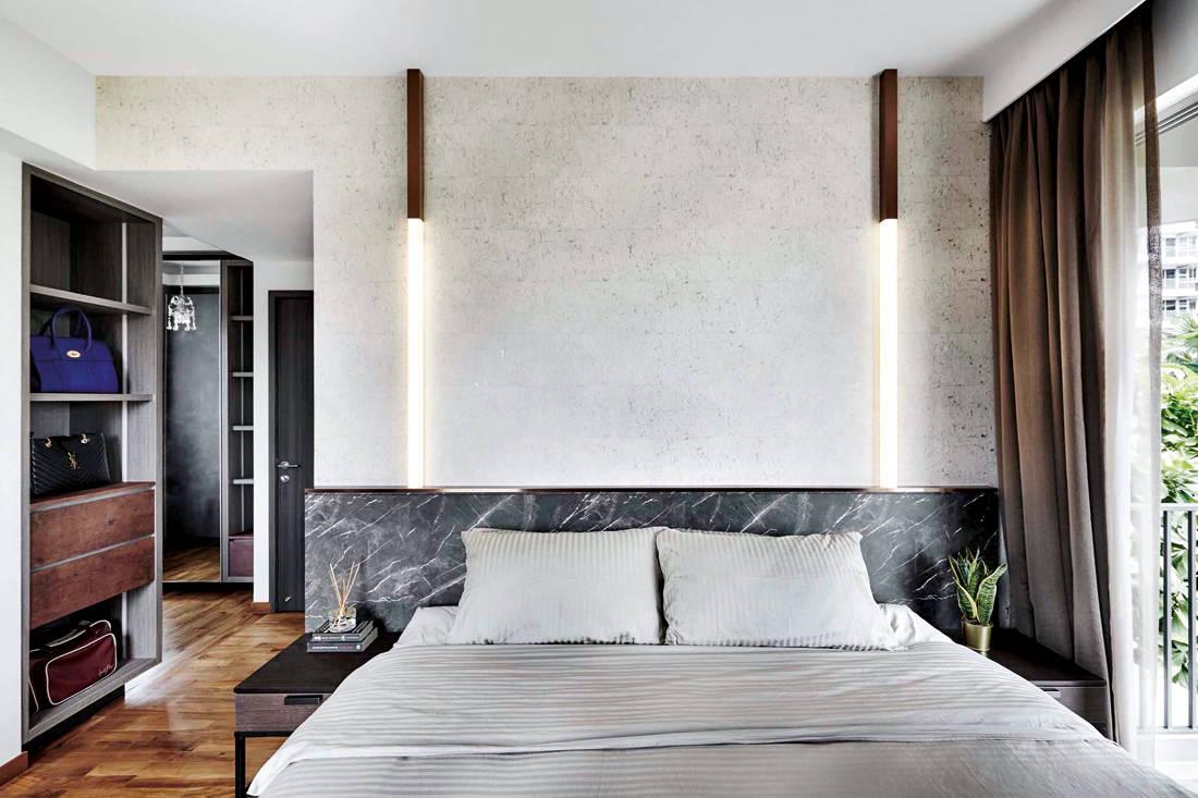 marble headboard by Design Zage