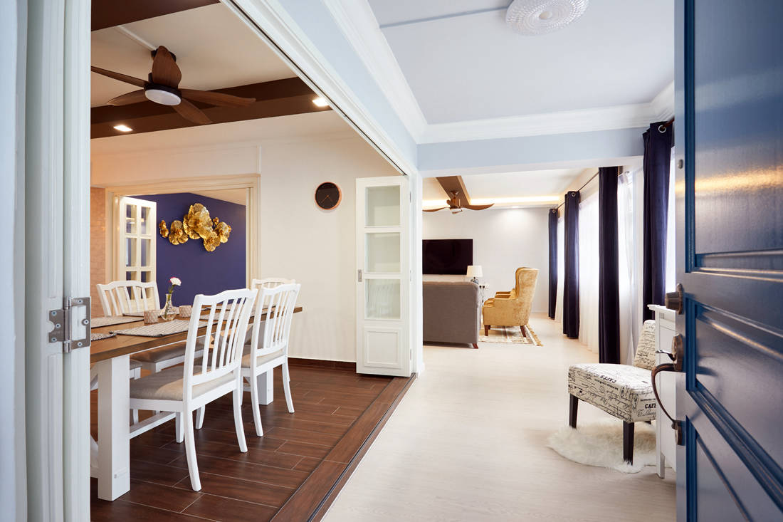 modern farmhouse HDB flat foyer by Dots N Tots Interior