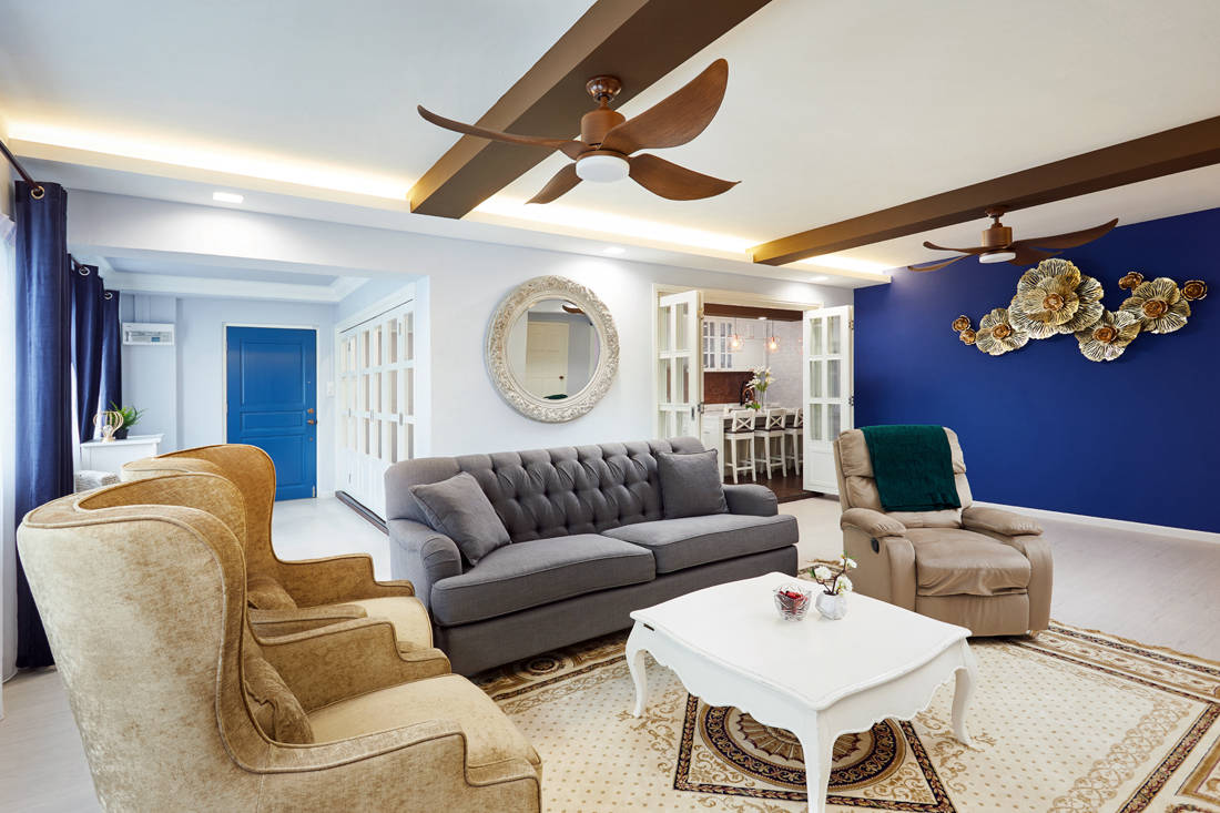 modern farmhouse HDB flat living room by Dots N Tots Interior