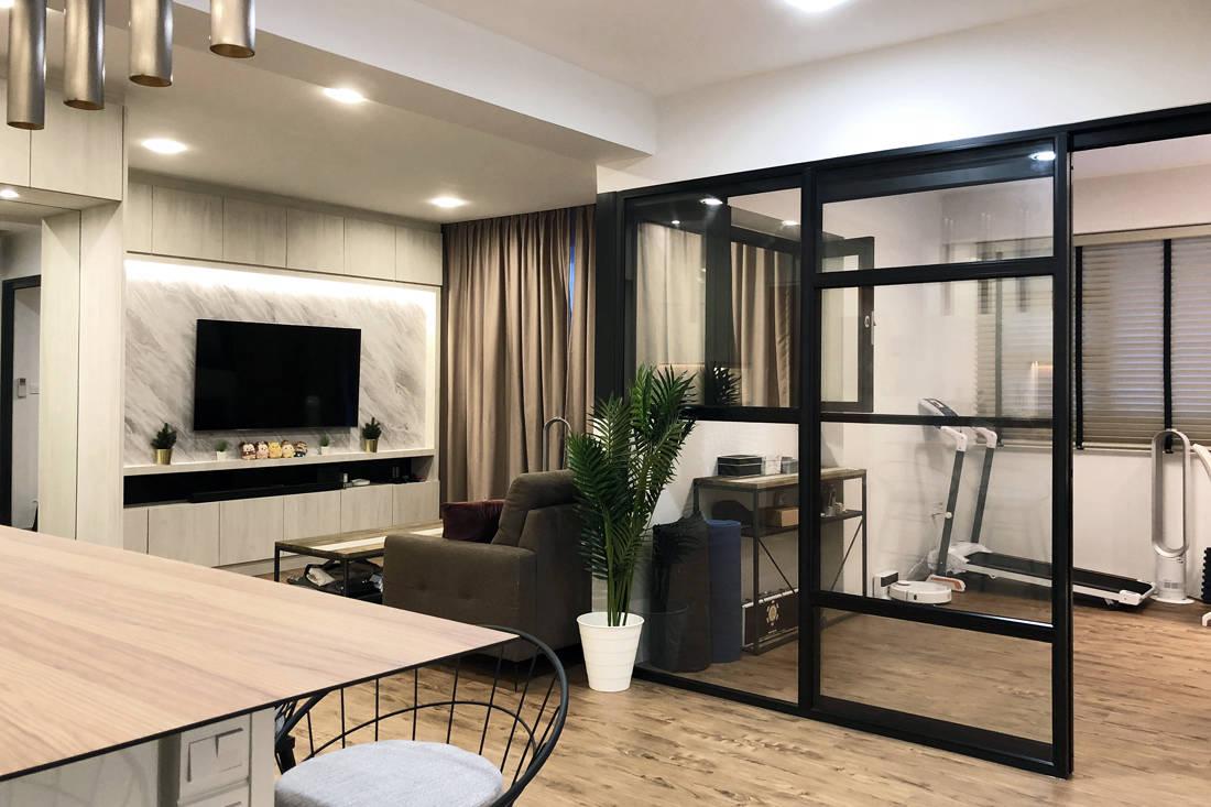 modern monochromatic flat by Nest Spatial Design
