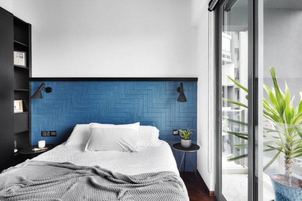 tiled headboard by HABIT