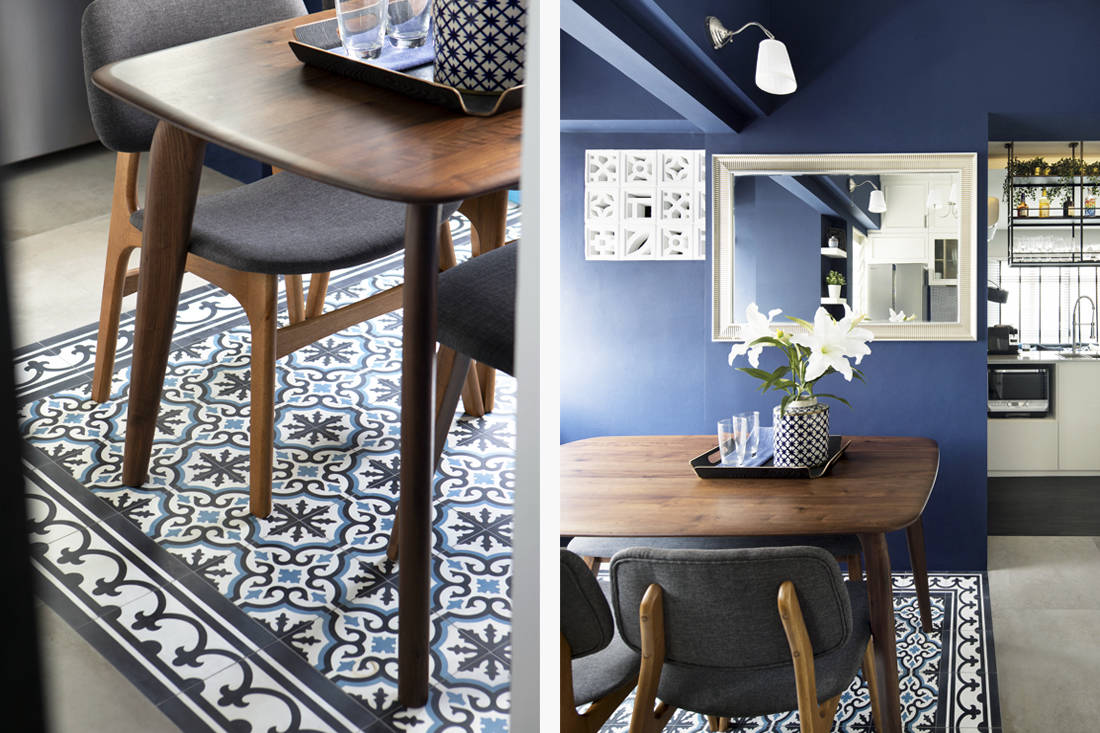 tiles as area rug by Home Journal