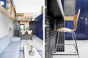 tiles on kitchen island base by Wynk Collaborative