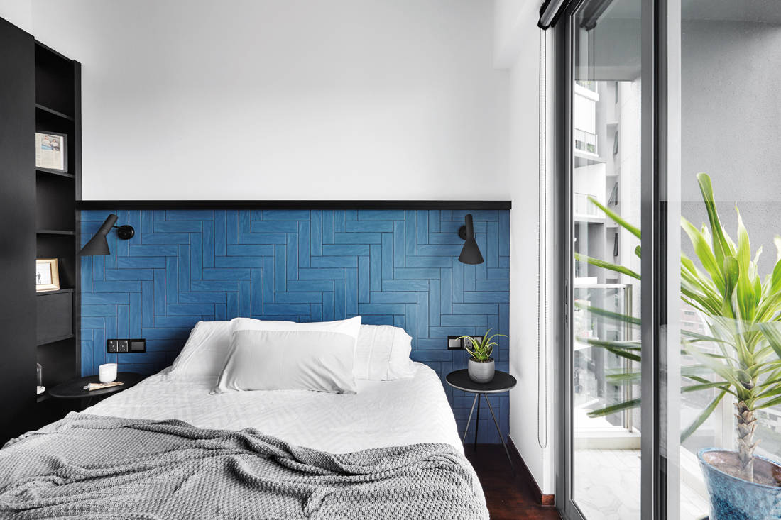 use tiles on headboard by HABIT