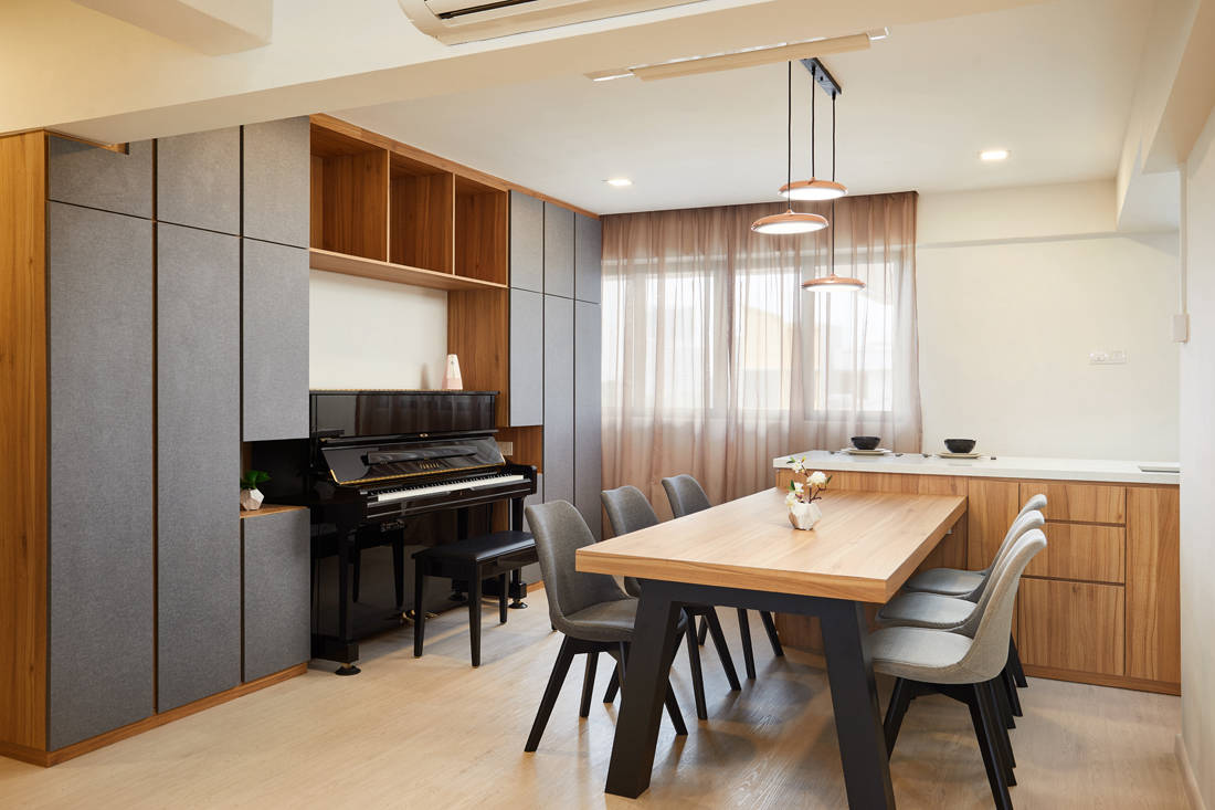 HDB resale flat dining area by Dots N Tots Interior