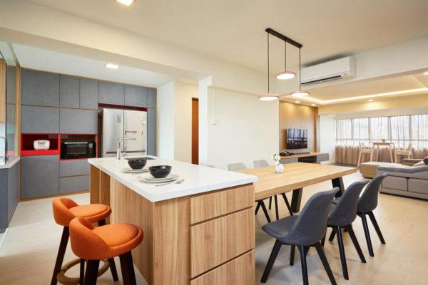 HDB resale flat dry kitchen by Dots N Tots Interior
