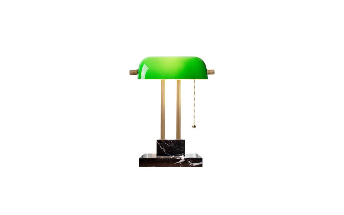 SCENE SHANG The Banker Desk Lamp Emerald
