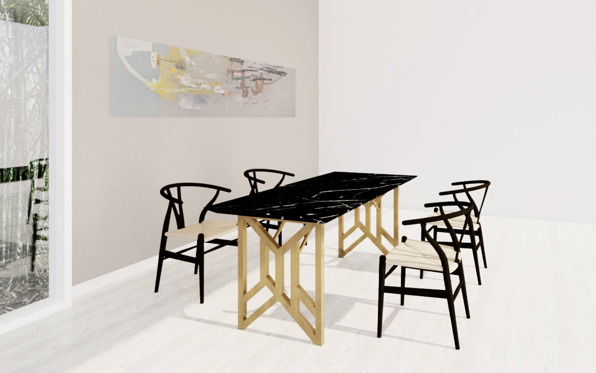 Lookbox Living Collection SINGER Dining Table 001
