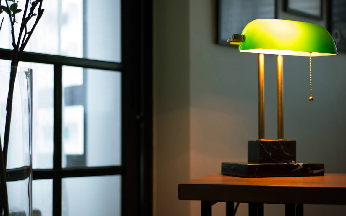 Lookbox Living Collection THE BANKER Desk Lamp 001