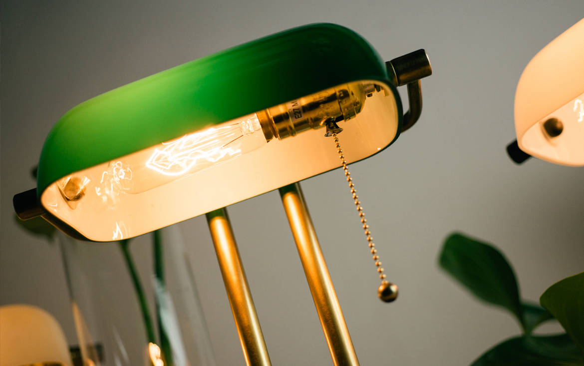 Lookbox Living Collection THE BANKER Desk Lamp 002