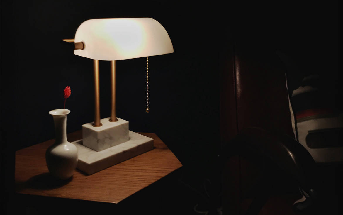 Lookbox Living Collection THE BANKER Desk Lamp 004