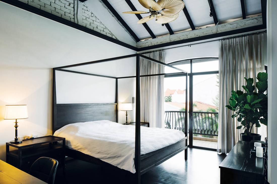 Peranakan meets British colonial terrace house bedroom by LAANK