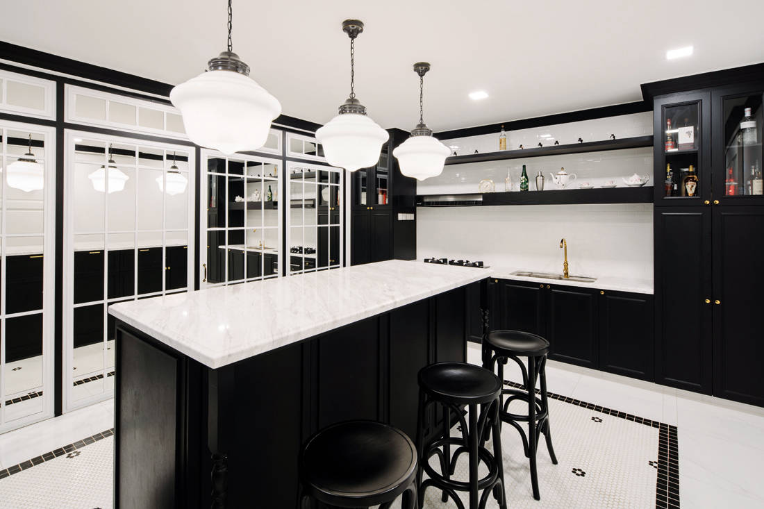 Peranakan meets British colonial terrace house kitchen by LAANK.