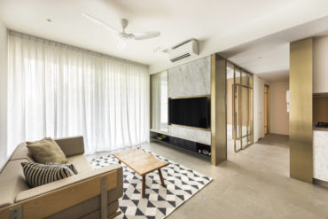 A reconfigured layout improves circulation in this condo