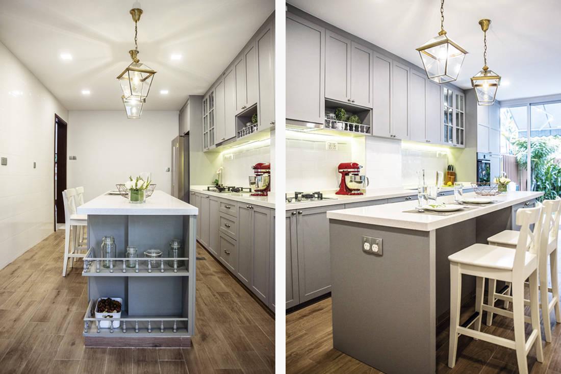 semi-detached house kitchen renovation by I.D.I.D
