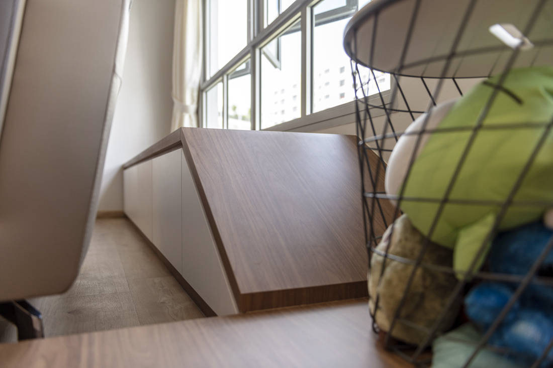 spacious flat bay window ledge designed by Metier Planner