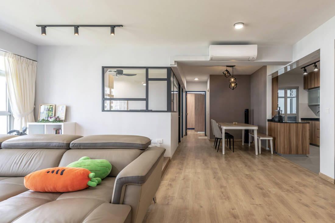 spacious flat designed by Metier Planner
