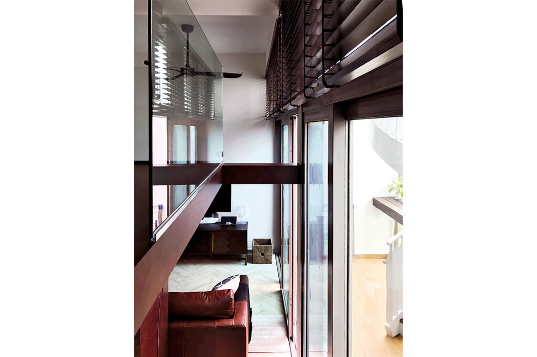 studio apartment bedroom loft by Nest Spatial Design
