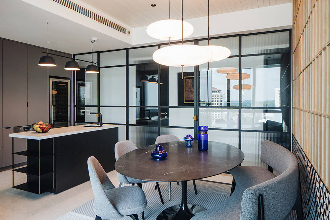 timeless Grange Garden Apartment kitchen and dining by Gabriel Tan