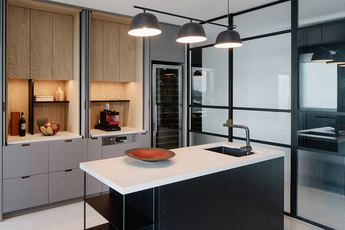 timeless Grange Garden Apartment kitchen by Gabriel Tan