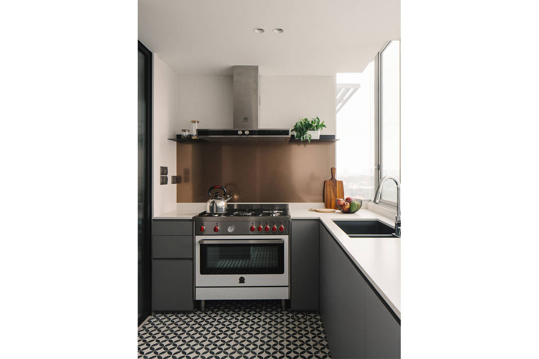 timeless Grange Garden Apartment wet kitchen by Gabriel Tan