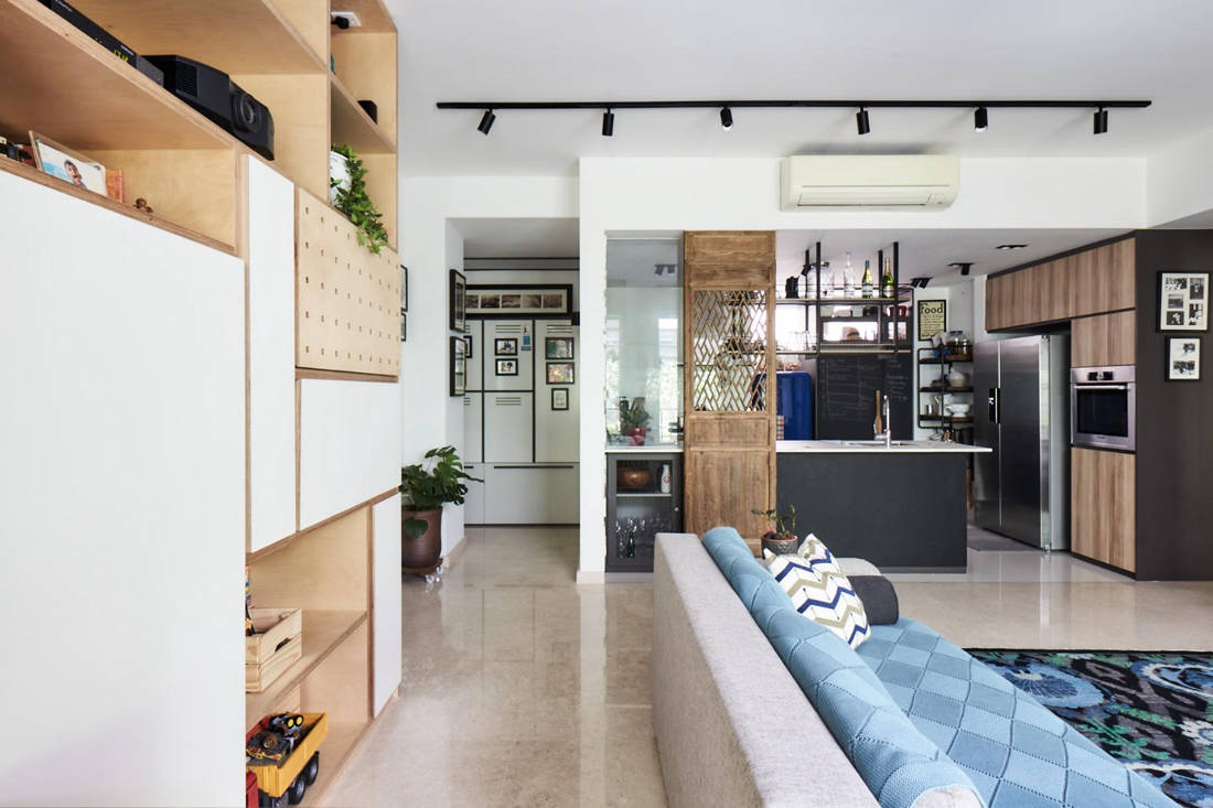 tropical oasis family home communal space designed by Third Avenue Studio