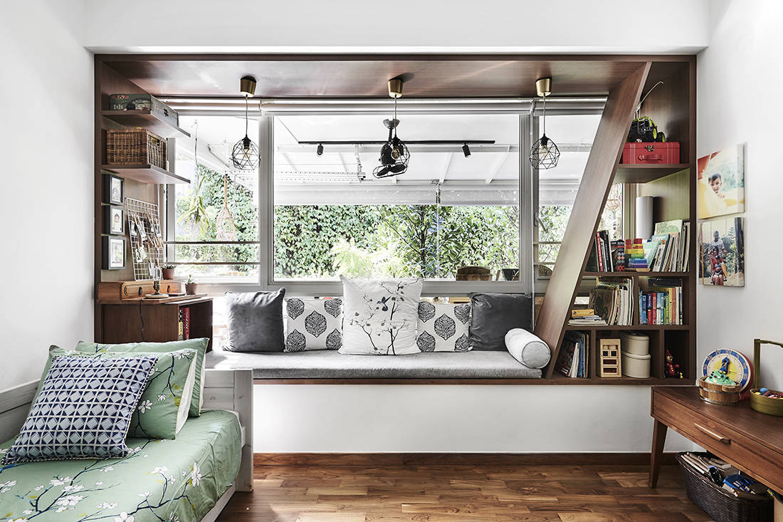 tropical oasis family home kid's room designed by Third Avenue Studio
