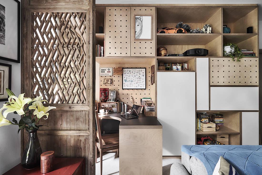 tropical oasis family home study designed by Third Avenue Studio
