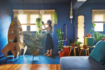 An outer space and botanical themed HDB flat