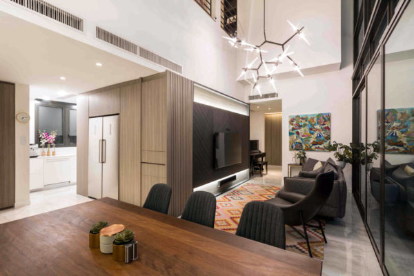 multi-generational living in a penthouse by Fineline Design