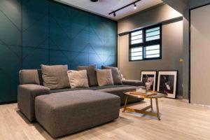 resale flat living room by Fineline Design