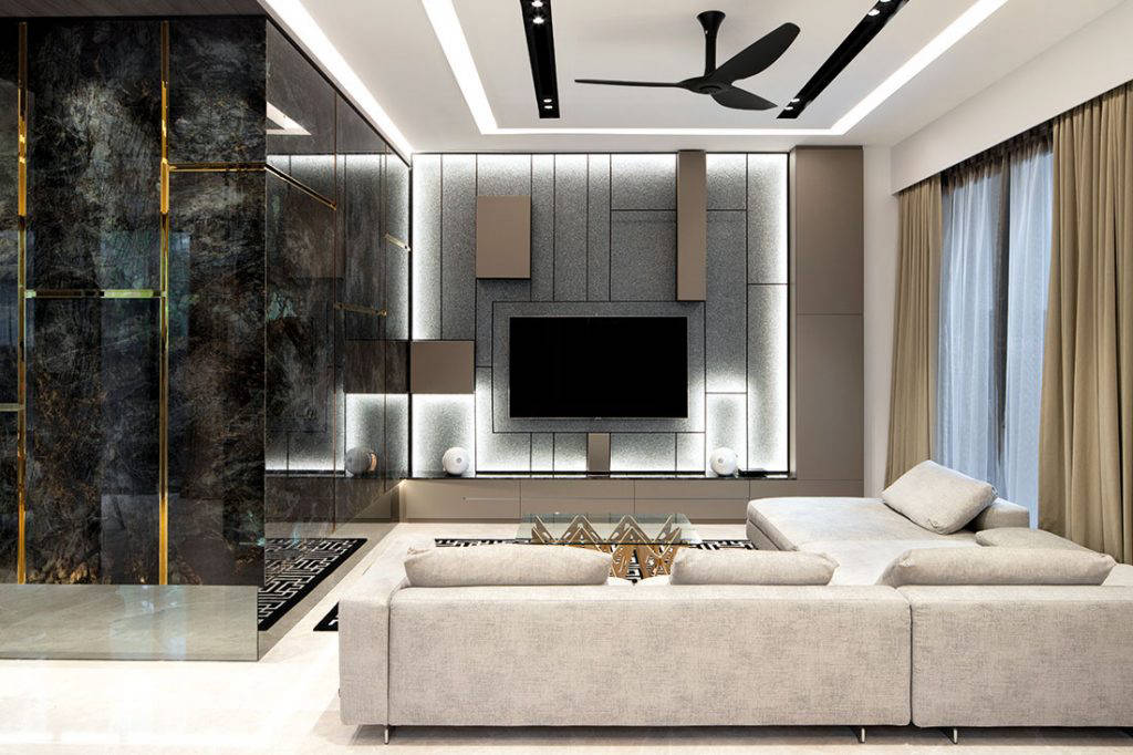contemporary family home linear space concepts