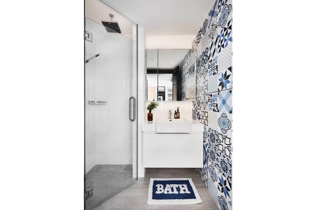 Peranakan industrial bathroom by AMP Design Co